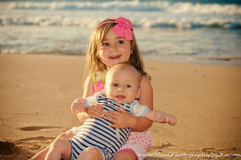 maui family pictures with kids and children