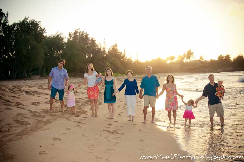 maui photography with large family
