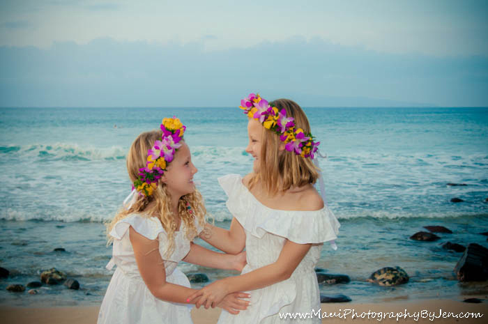 maui photography with girls