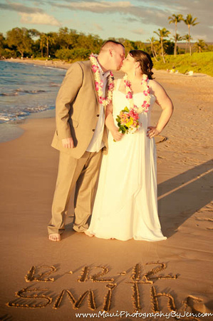 wedding photography in maui on the beach