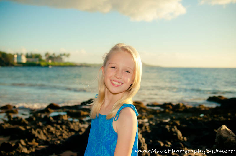 photography in maui with girl on the beach