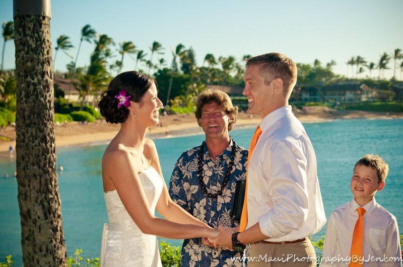 maui wedding photography at the napili kai