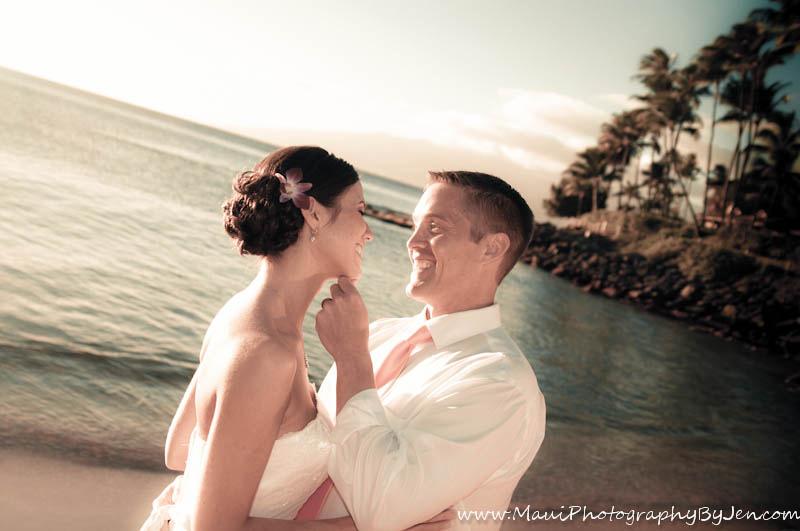 photographer in maui wedding napili bay