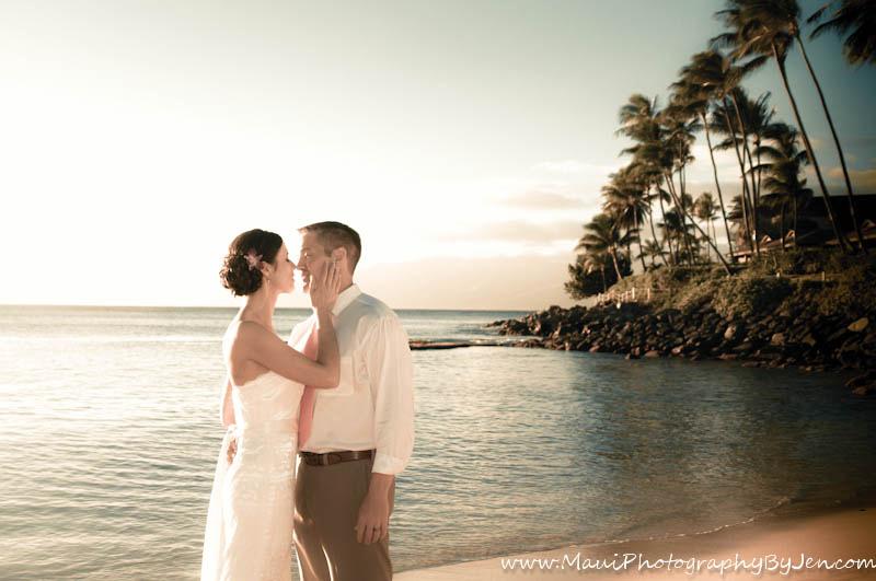 maui photographer wedding napili couple