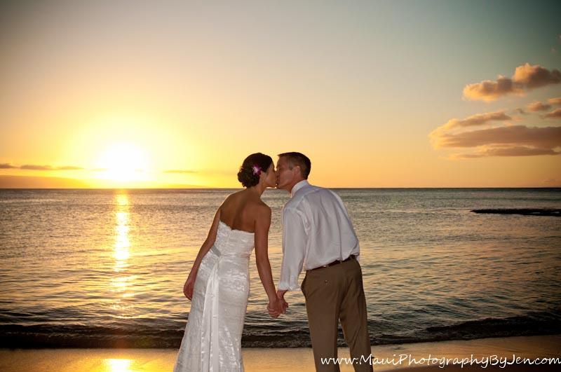 maui photography sunset wedding