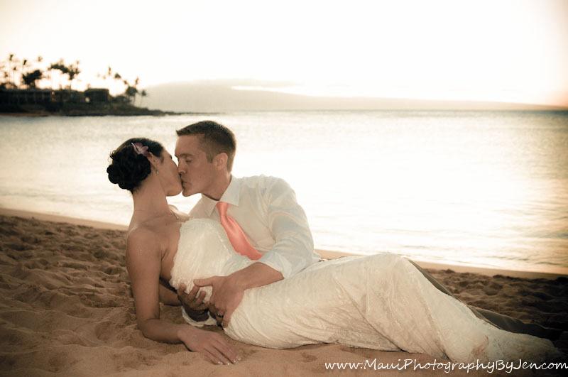 photography in maui wedding napili
