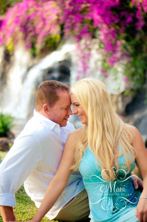photographers in maui at grand wailea resort with couple honeymoon