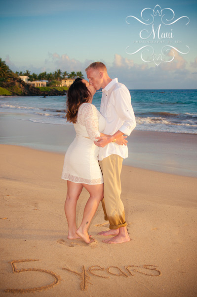 maui photography of couple on anniversary