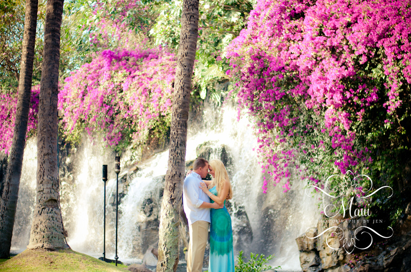 maui photographers engaged couple at grand wailea