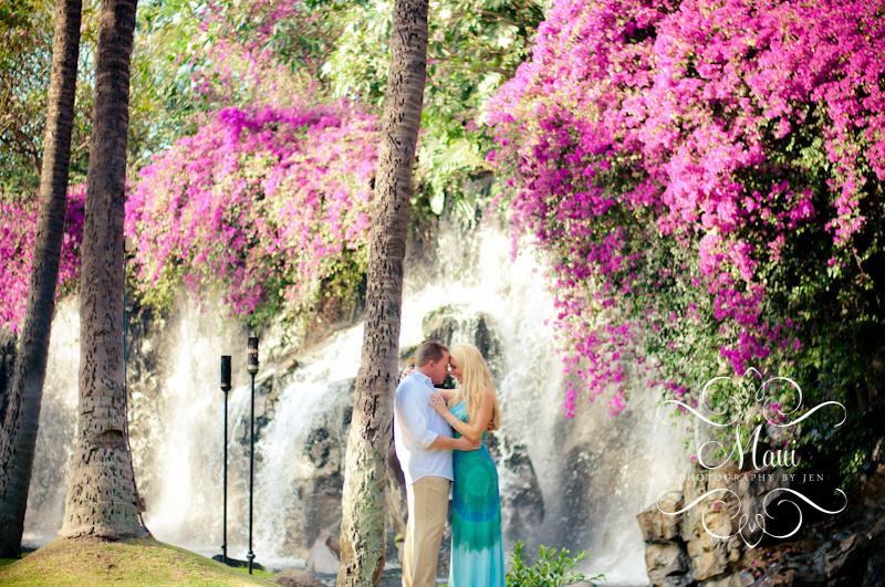 maui photographers engaged couple at grand wailea