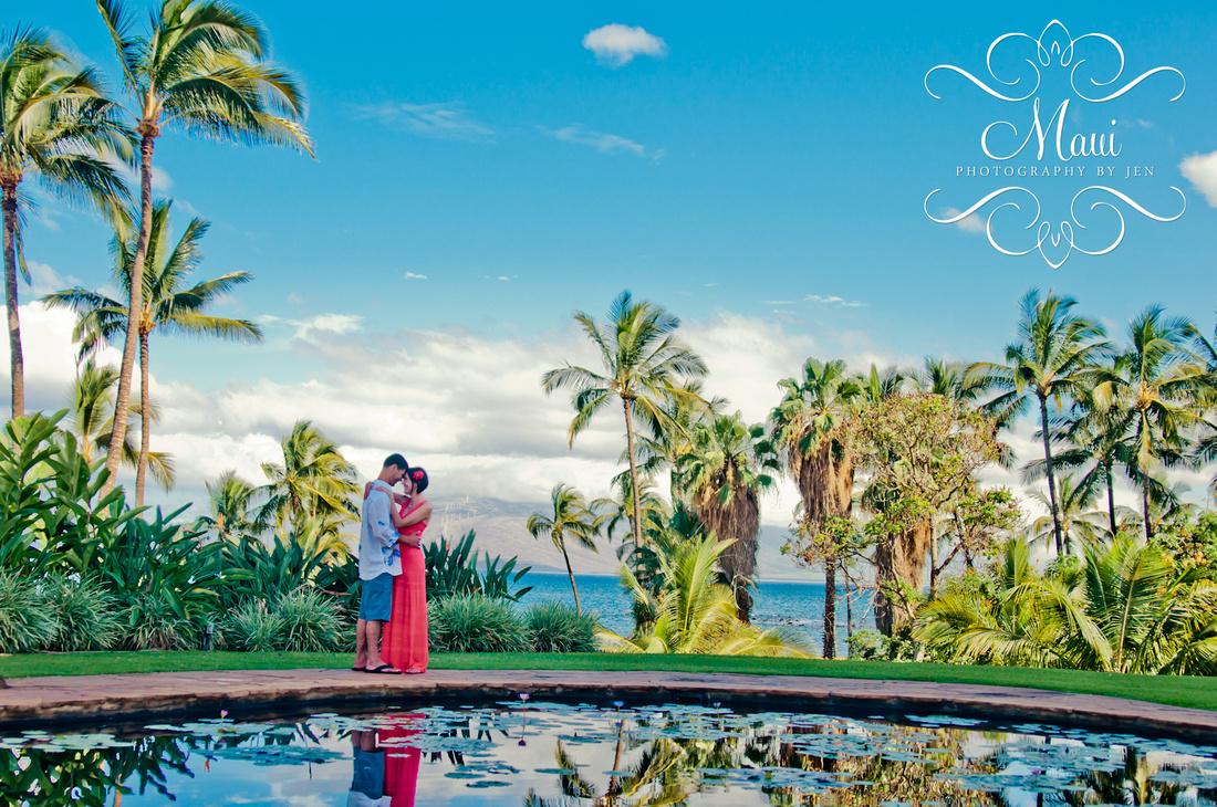 photographers in maui honeymoon at wailea marriott