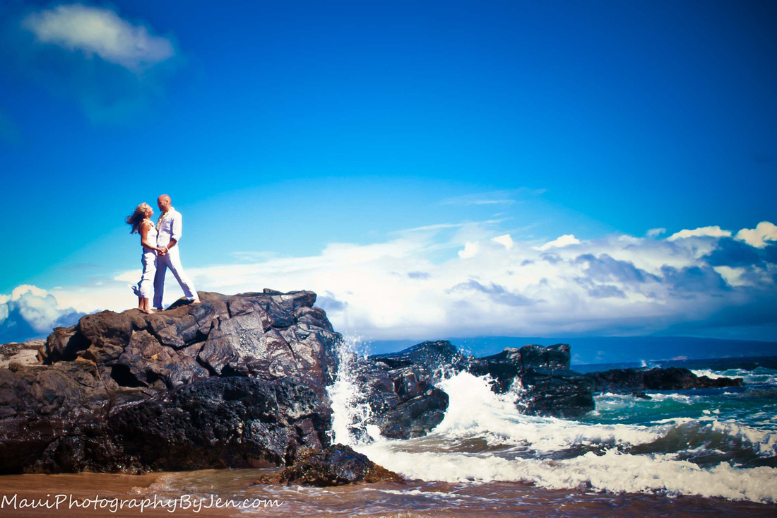 maui photographers best beach wedding