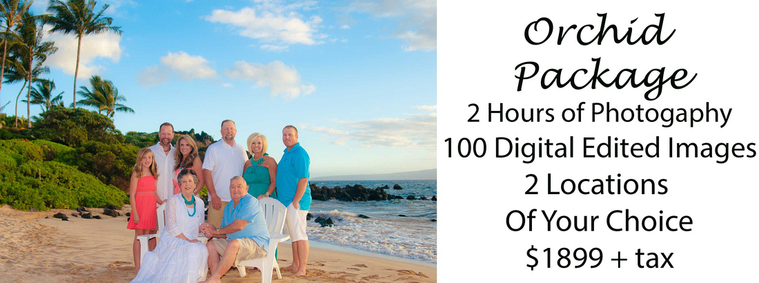 photography in maui with large family at sunset